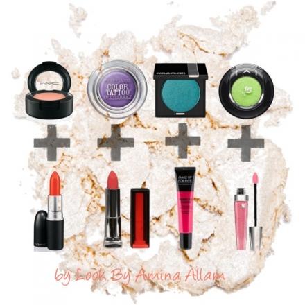 On mélange les couleurs du maquillage