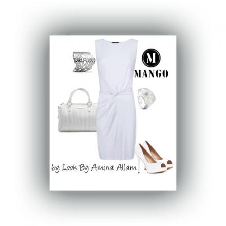 La robe blanche de Mango