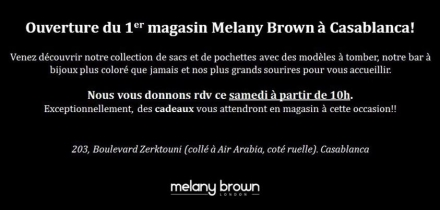 Melany Brown London ouvre à Casablanca