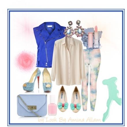 Du bleu et des pastels