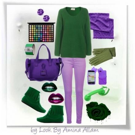 Du vert et du violet