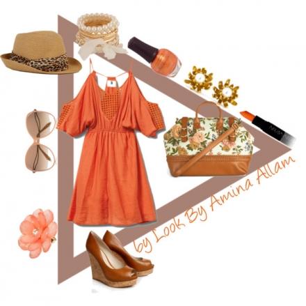 La robe orange de Quiksilver