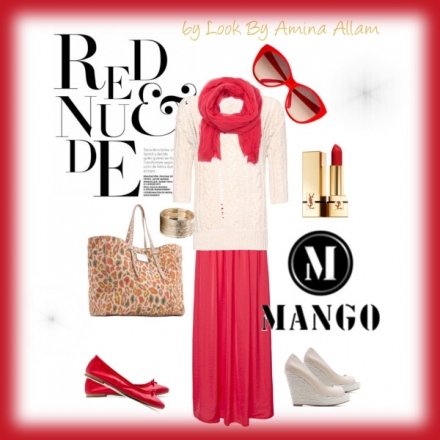 Red & Nude – 100% Mango