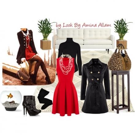 La petite robe rouge pour la femme couture