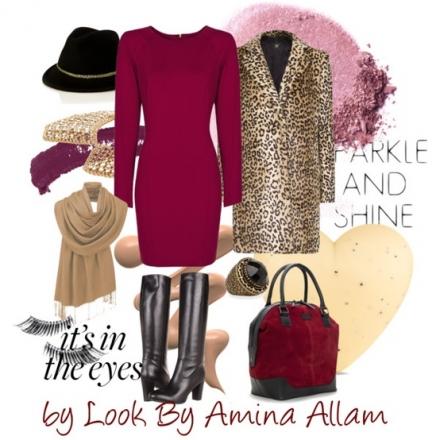 Du rouge framboise et du léopard pour une working girl