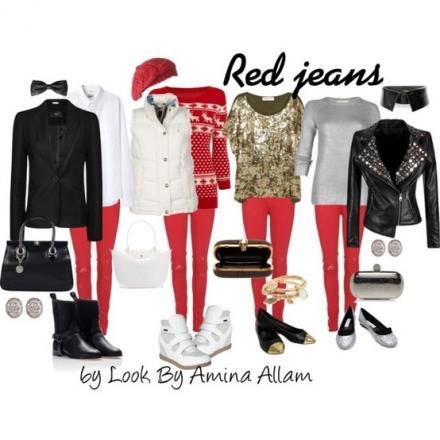 Le jeans rouge