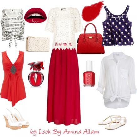 Des idées pour porter une jupe rouge