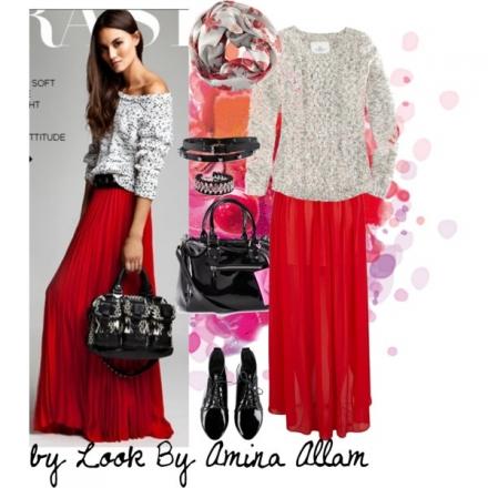 La jupe maxi rouge