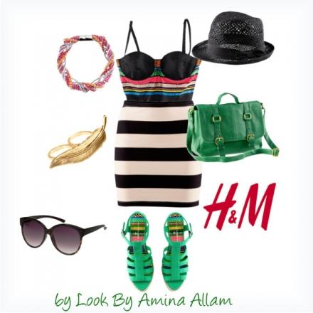 L'ensemble rayé de H&M