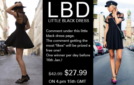 Romwe little black dress for Valentine's day
