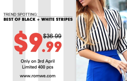 Best of black&white stripes from Romwe