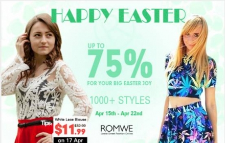 Romwe Easter promotion
