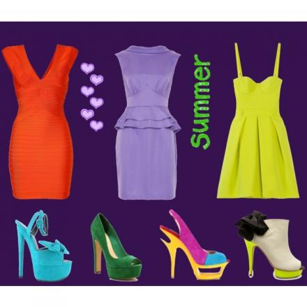 Des robes et des chaussures d'été