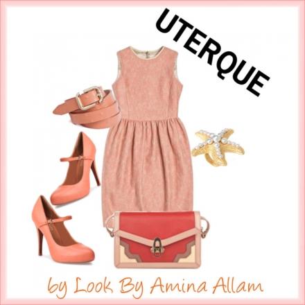 La robe corail d'Uterqüe