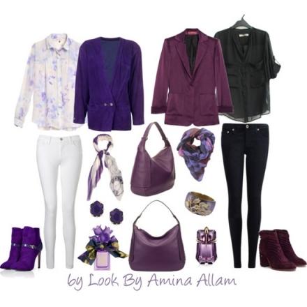 Comment porter le sac violet Cindy de Furla?