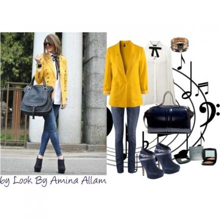 Le blazer jaune de H&M
