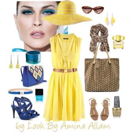 La robe jaune par H&M